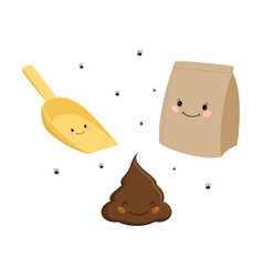 With picking poop vector