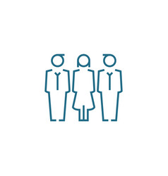work team linear icon concept team line vector image