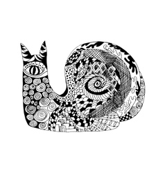 Zentangle stylized snail Sketch for tattoo or t vector image