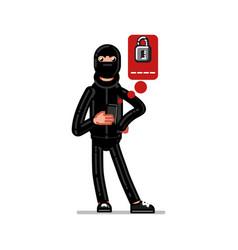 burglar try to huck vector image