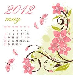 calendar for 2012 vector image