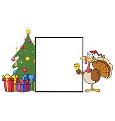 Chirstmas turkey cartoon vector image vector image