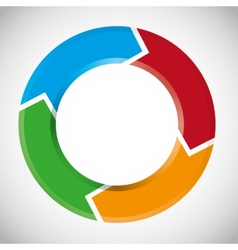 colorful circular arrow chart vector image