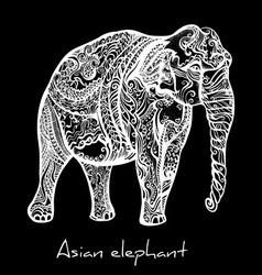 Elephant doodle vector image vector image