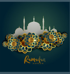 ramadan kareem islamic greeting background vector image vector image