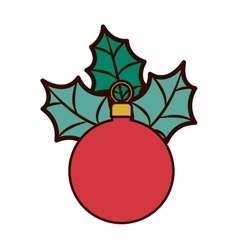red garland with christmas leaves vector image vector image