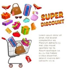 Super Discount Design vector image vector image