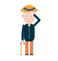 Elderly gentleman greets vector image