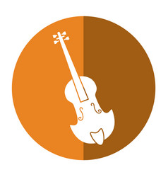fiddle classical music instrument shadow vector image