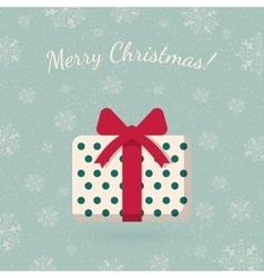 Present box on winter backdrop vector image