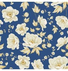 Design of vintage floral pattern vector image vector image