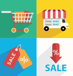 E-commerce Business concept Set icons vector image vector image
