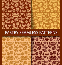 patterns of pastry vector image vector image