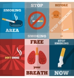 Smoking Mini Poster Set vector image vector image
