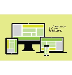 technology set vector image vector image