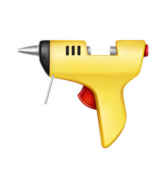 3d realistic yellow glue gun vector