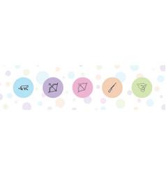 5 hunter icons vector