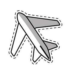 airplane travel business vacation shadow vector image