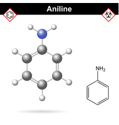 Aniline organic solvent molecular structure vector