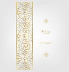 Arabesque elegant classic gold background border vector