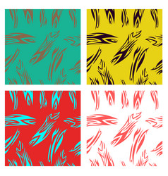 Assembly of patterns in striped style vector