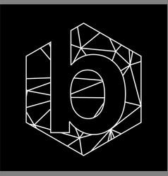 b geometric triangle blockchain font vector image
