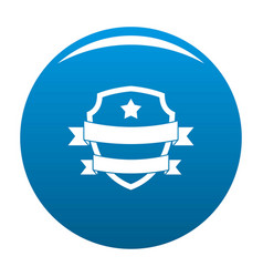 badge hipster icon blue vector image