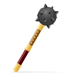 battle mace 01 vector image