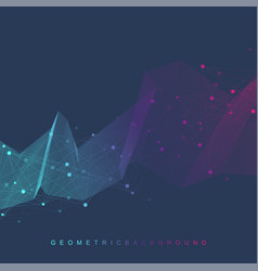 Big data visualization graphic abstract vector
