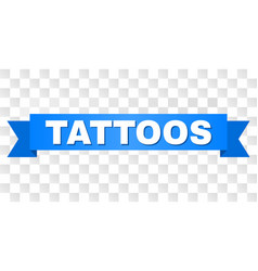 Blue stripe with tattoos caption vector