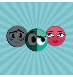 Cartoon face design vector