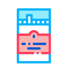 cigarettes icon outline vector image