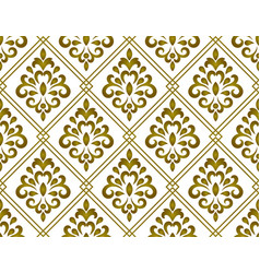 classic damask background vector image