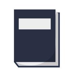 Closed book icon vector