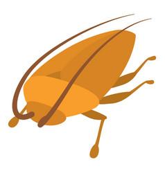 Cockroach icon cartoon style vector