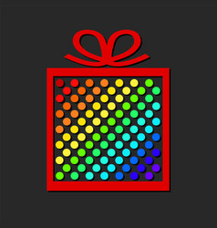colorful gift box from paper circles for your vector image