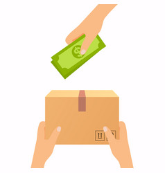 Concept for delivery service cash on delivery vector