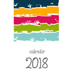 Cover calendar 2018 happy new year vector