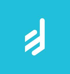 D logo abstract simple minimalist design modern vector