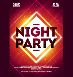 dance club night party flyer template vector image