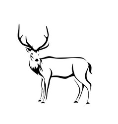 Deer figure vector