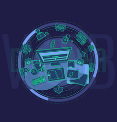 Detailed for promo poster - web vector