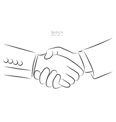 Draw hand and business card vector