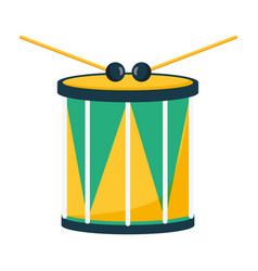 Drum and sticks music vector