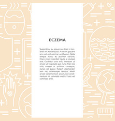 eczema concept background in line style with place vector image
