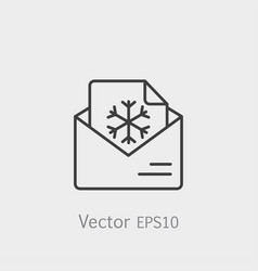 email postcard letter xmas christmas snowflake vector image
