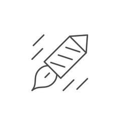 firework rocket line outline icon vector image