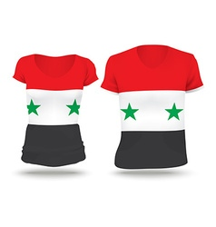 Flag shirt design of Syria vector
