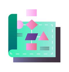 flowchart gradient vector image