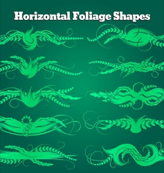 foliage shapes vector image